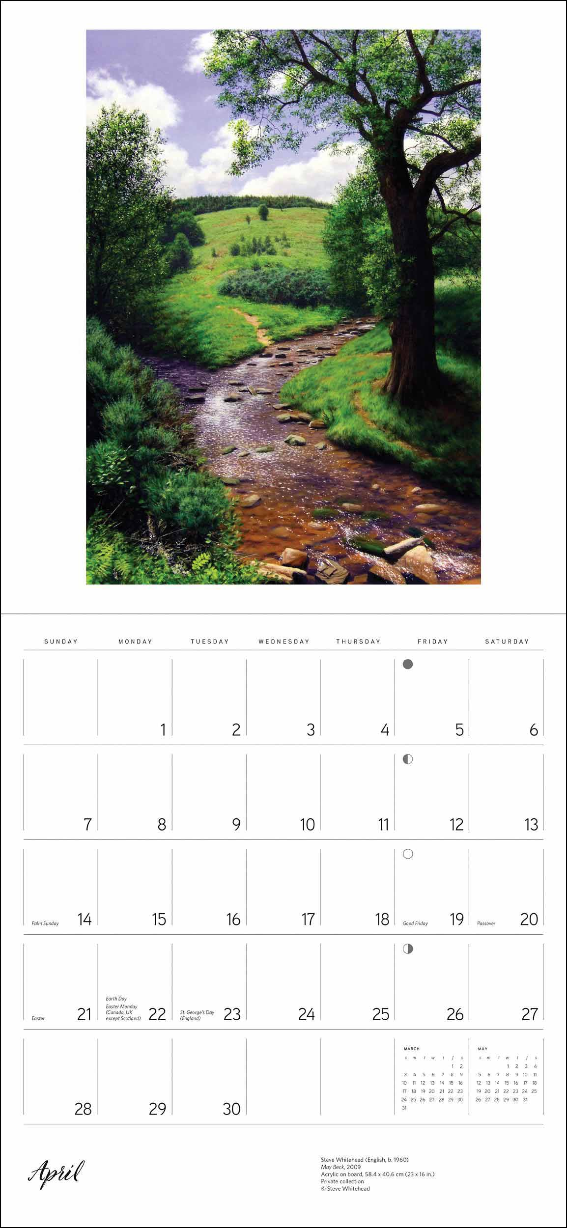 england the landscape paintings deluxe calendar 2019