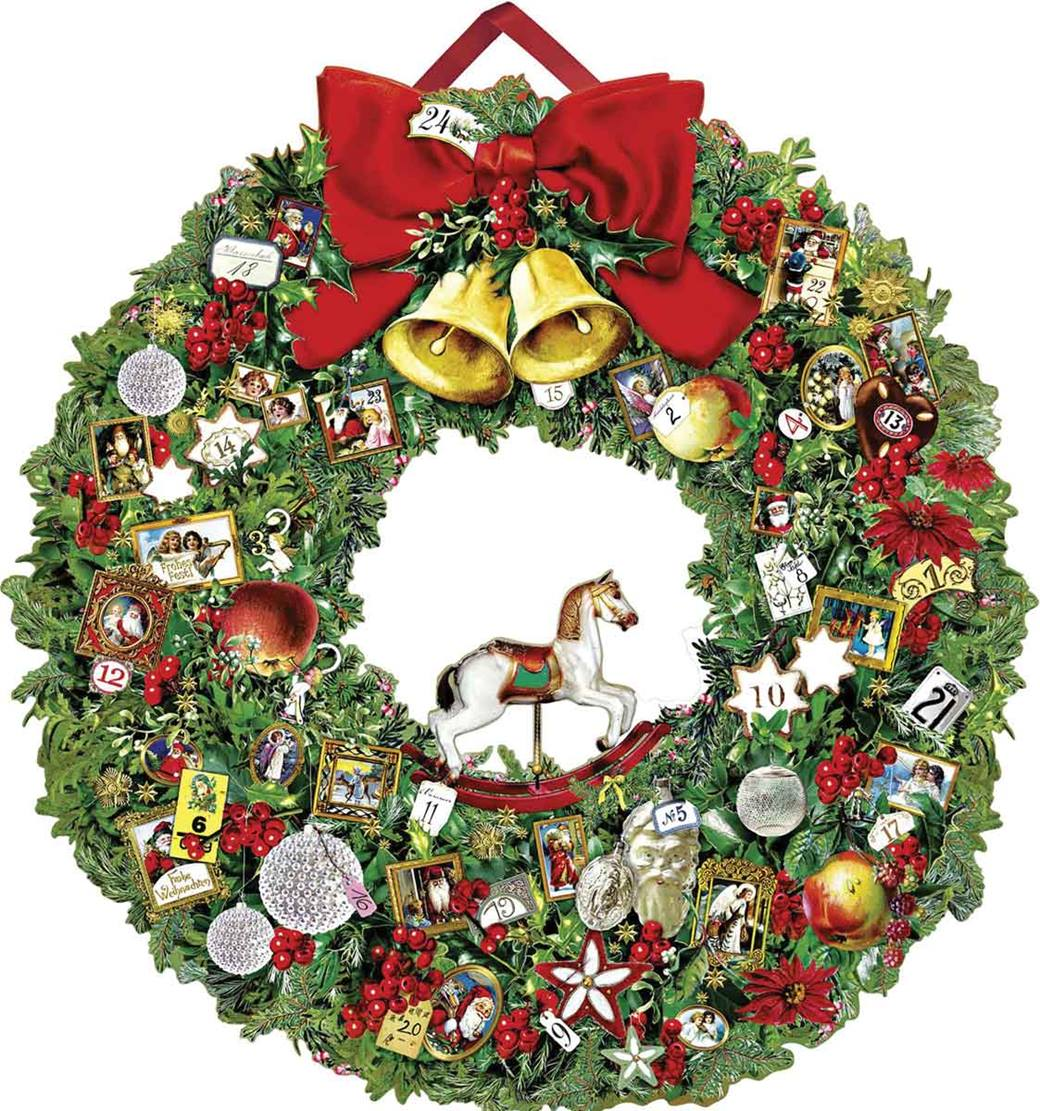 Christmas Decorations For Victorian Homes: Victorian Christmas Wreath Large Luxury Advent Calendar