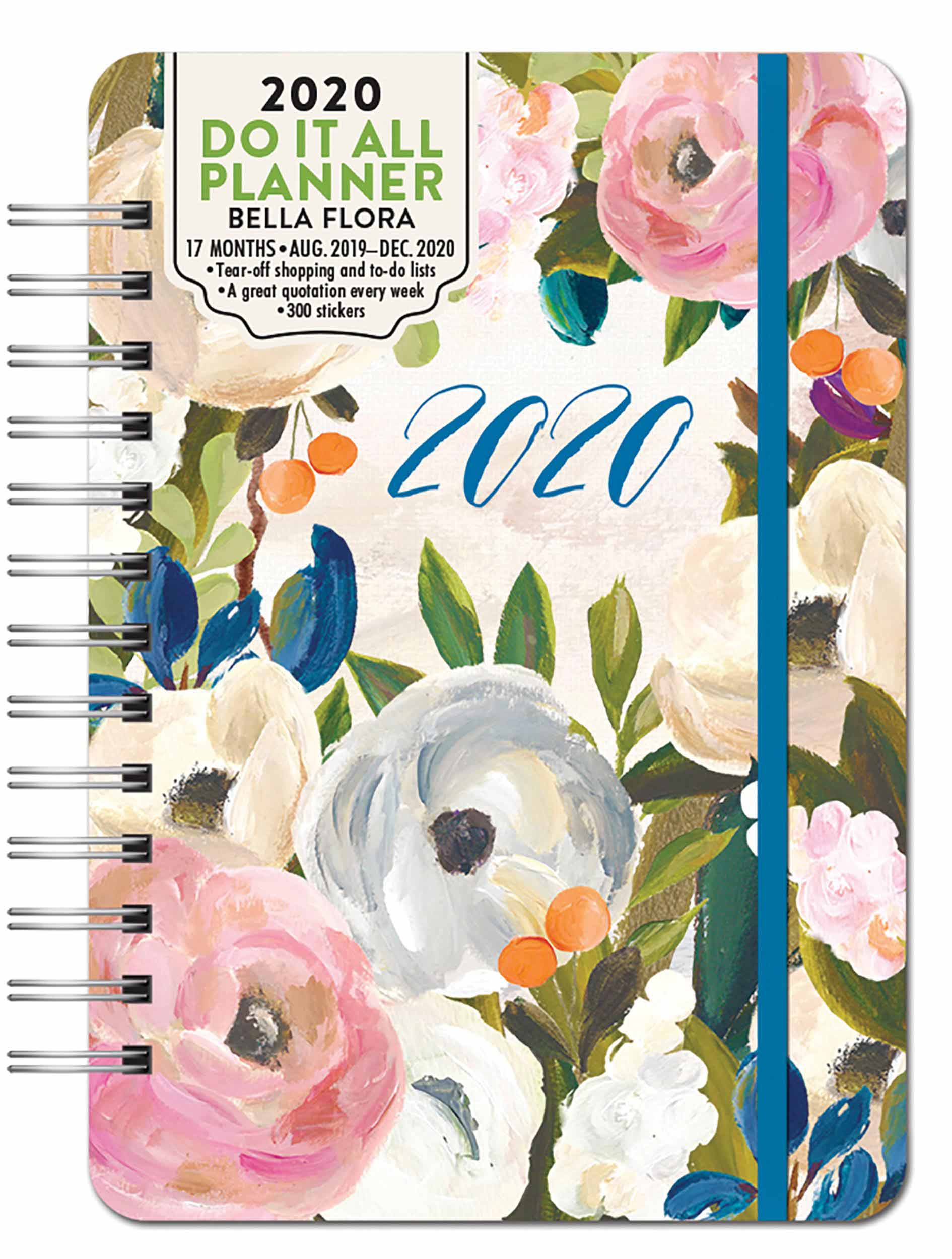 Do It All, Bella Flora A5 Diary 2019 - 2020