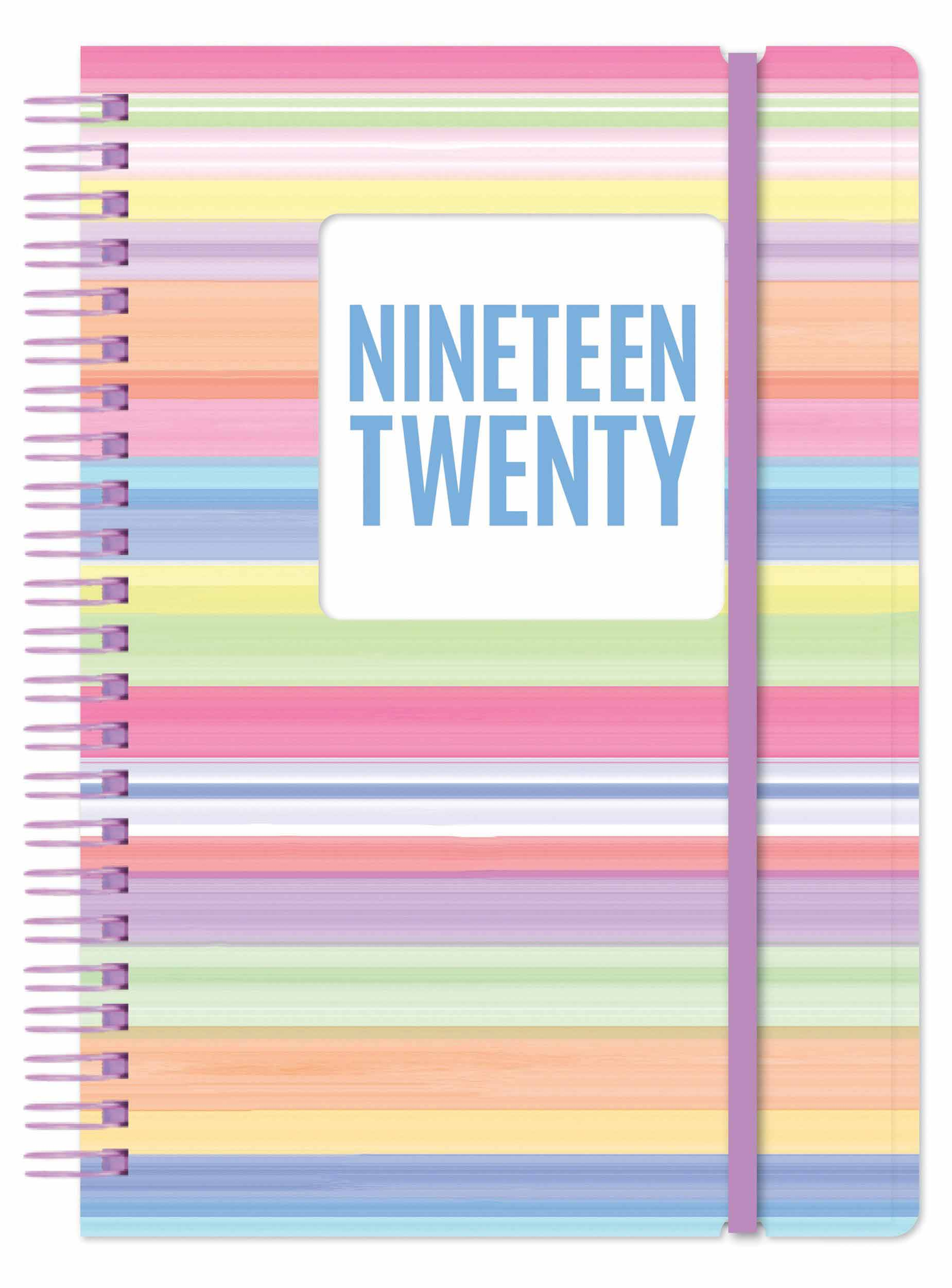 Stripes Acdemic A5 Diary 2019 - 2020